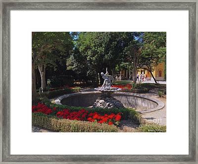 Trieste - Garden At Miramare Framed Print by Italian Art