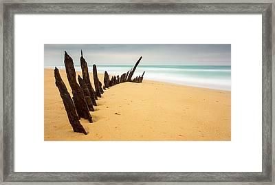 Trinculo Shipwreck Framed Print by Chris Van Kan