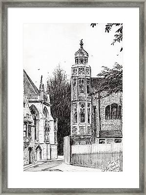 Trinity Street Cambridge Framed Print by Vincent Alexander Booth