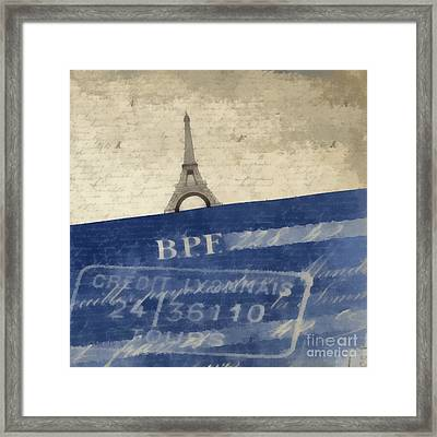 Trip To Paris Square Pillow Size Framed Print by Edward Fielding