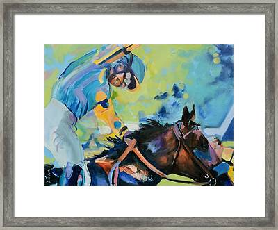 Triple Crown Champion American Pharoah Framed Print by Donna Tuten