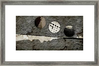 Triple Lunacy Abstract 1 Framed Print by Carol Leigh