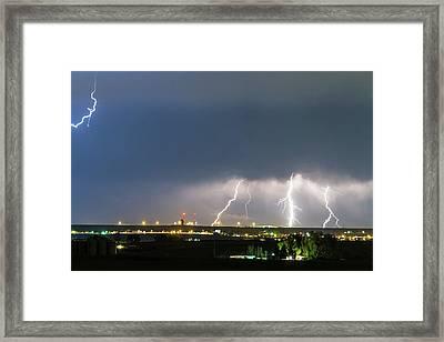 Triple Night Strike Framed Print by James BO Insogna