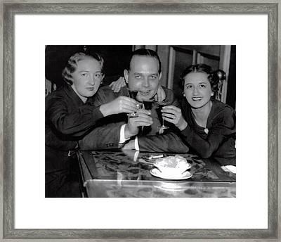 Triple Nightclub Toast - Prohibition Ends - Dec 5, 1933 Framed Print by Daniel Hagerman