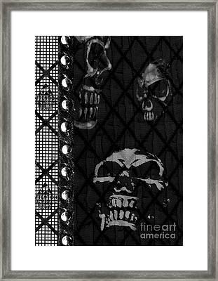 Triple Skulls Framed Print by Roseanne Jones