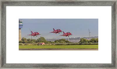 Triplets Of The Air Framed Print by Paul Madden