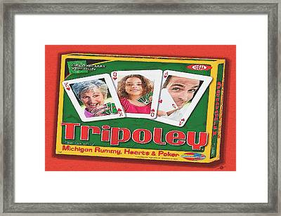 Tripoley Board Game Painting Framed Print by Tony Rubino