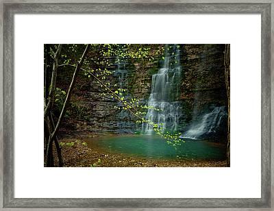 Tripple Falls Framed Print by Iris Greenwell