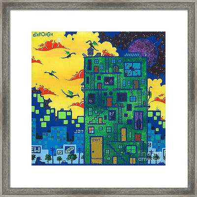 Trish's Painting Framed Print by Dan Keough