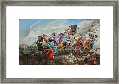 Triumph Of The Doll. From Triptych Procession Framed Print by Maya Gusarina