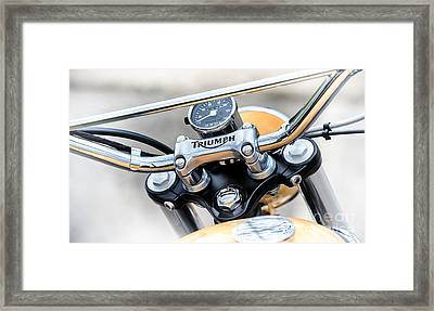 Triumph Scrambler Abstract Framed Print by Tim Gainey