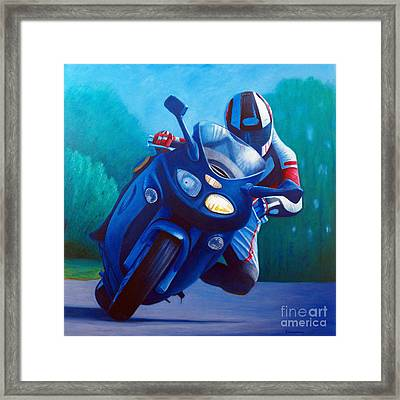 Triumph Sprint - Franklin Canyon  Framed Print by Brian  Commerford