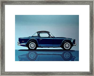 Triumph Tr5 1968 Painting Framed Print by Paul Meijering