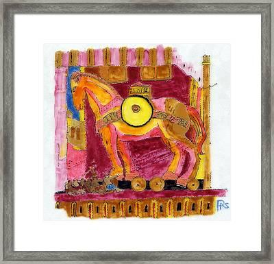 Trojan Horse Framed Print by Phil Strang