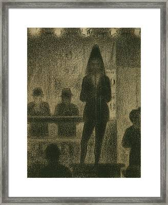 Trombonist  Framed Print by Georges-Pierre Seurat