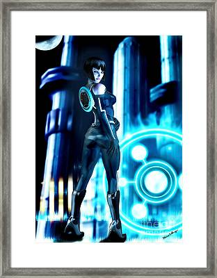 Tron Quorra Framed Print by Alicia Hollinger