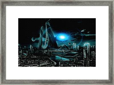 Tron Revisited Framed Print by Mario Carini