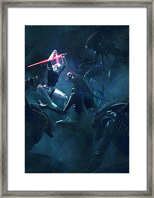 Troopers Vs Space Cockroaches 3 Framed Print by Guillem H Pongiluppi