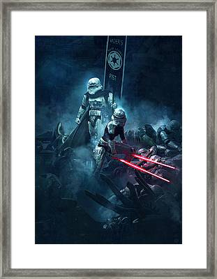 Troopers Vs Space Cockroaches 4 Framed Print by Guillem H Pongiluppi