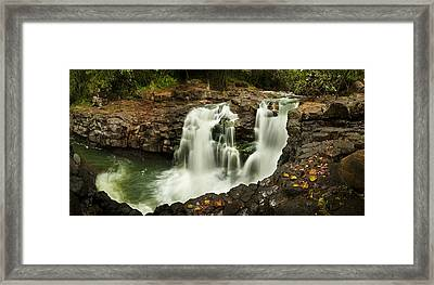Tropic Falls Framed Print by Sun Gallery Photography Lewis Carlyle