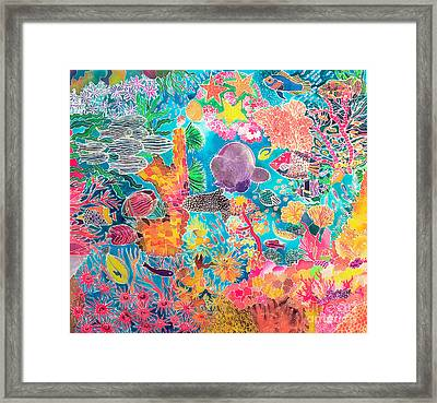 Tropical Coral Framed Print by Hilary Simon