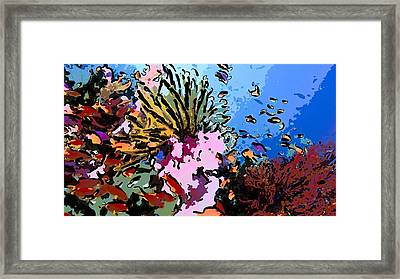 Tropical Coral Reef  2 Framed Print by Lanjee Chee