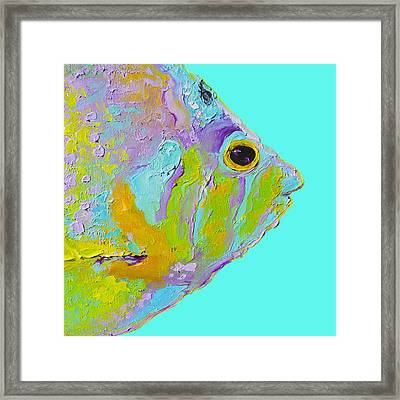 Tropical Fish For Coastal Decor Framed Print by Jan Matson