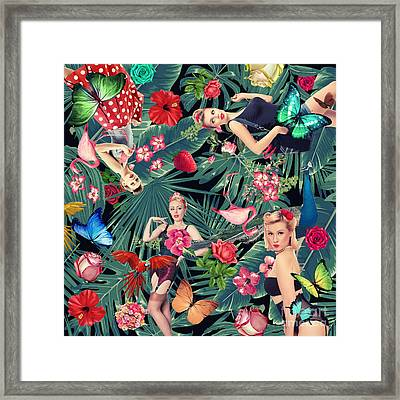 Tropical Fun Sexy  Framed Print by Mark Ashkenazi