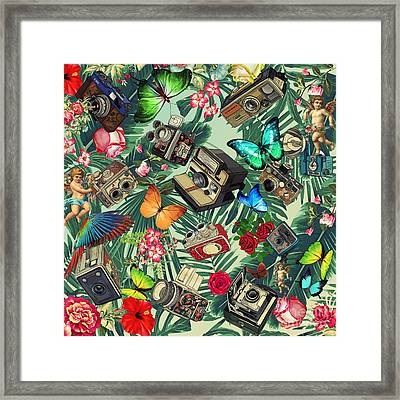Tropical Fun Vintage  Framed Print by Mark Ashkenazi