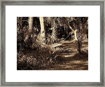 Tropical Hammock Framed Print by Susanne Van Hulst