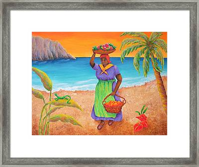 Tropical Harvest Framed Print by Pamela Allegretto