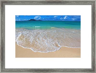 Tropical Hawaiian Shore Framed Print by Kerri Ligatich