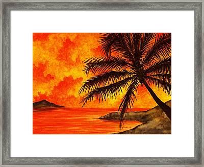 Tropical Heat Framed Print by Michael Vigliotti
