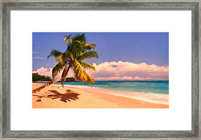 Tropical Island 6 - Painterly Framed Print by Wingsdomain Art and Photography