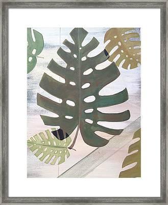 Tropical Leaf Framed Print by Laura Parrish