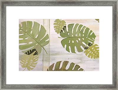 Tropical Leaves  Framed Print by Laura Parrish