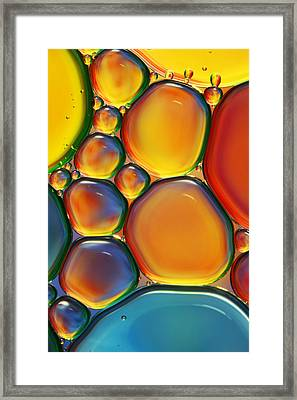 Tropical Oil And Water II Framed Print by Sharon Johnstone