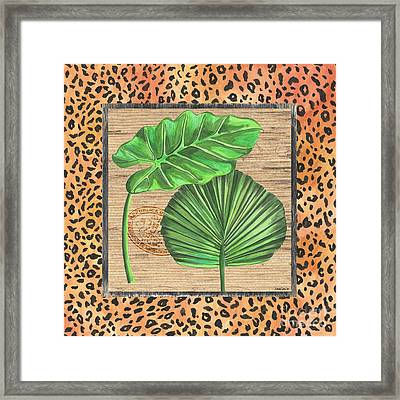 Tropical Palms 1 Framed Print by Debbie DeWitt