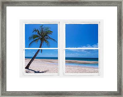 Tropical Paradise Whitewash Picture Window View Framed Print by James BO Insogna