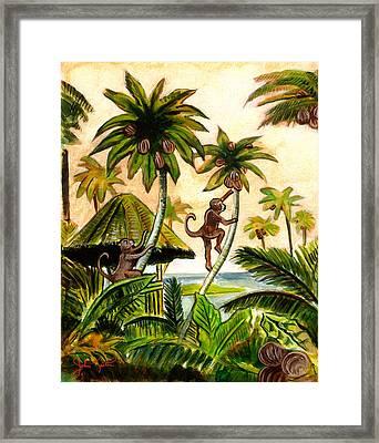Tropical Scene Framed Print by John Keaton