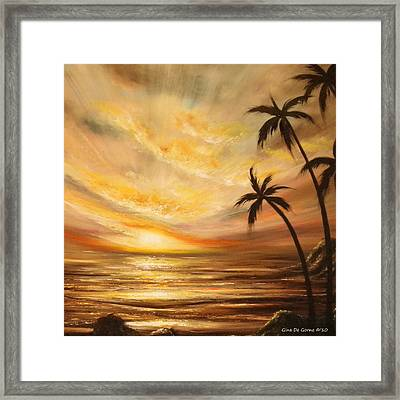 Tropical Sunset 64 Framed Print by Gina De Gorna
