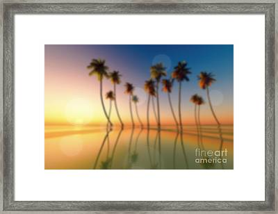 Tropical Sunset Framed Print by Aleksey Tugolukov