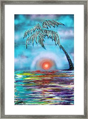 Tropical Sunset Framed Print by Laura Barbosa
