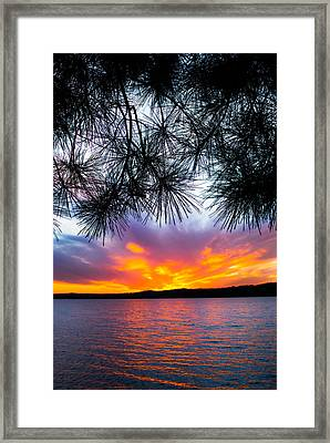 Tropical Sunset Vertical Framed Print by Parker Cunningham