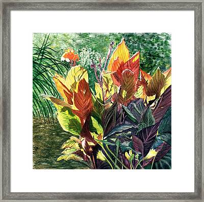 Tropical Vacation Framed Print by Vicky Lilla