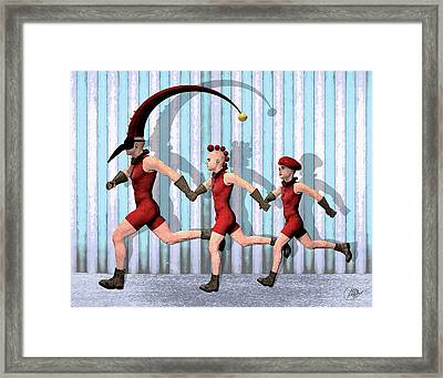 Troupe Family Framed Print by Quim Abella