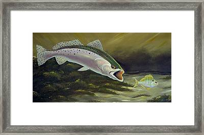 Trout And Pinfish Framed Print by Dave Combs
