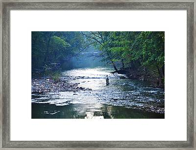 Trout Fishing In America Framed Print by Bill Cannon