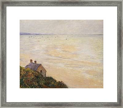 Trouville At Low Tide Framed Print by Claude Monet