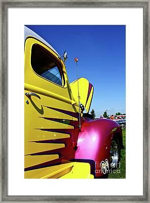 Truck Art Framed Print by Linda Bianic